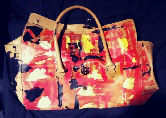 HAND PAINTED BAG BY JOYCE SANCHEZ